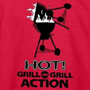 Hot Grill on grill action - Kids' Long Sleeve T-Shirt