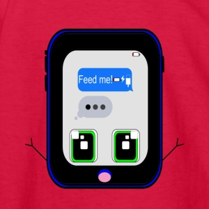 iPhone Feed Me (blue) - Kids' Long Sleeve T-Shirt