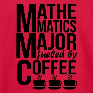 Mathematics Major Fueled By Coffee - Kids' Long Sleeve T-Shirt