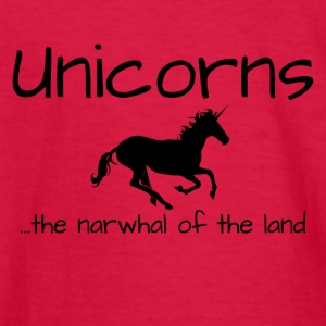 Unicorns are the Narwhal of the Land - Kids' Long Sleeve T-Shirt