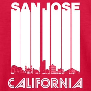 Retro San Jose California Skyline - Kids' Long Sleeve T-Shirt
