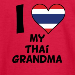 I Heart My Thai Grandma - Kids' Long Sleeve T-Shirt