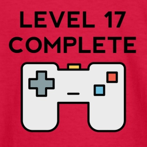 Level 17 Complete 17th Birthday - Kids' Long Sleeve T-Shirt