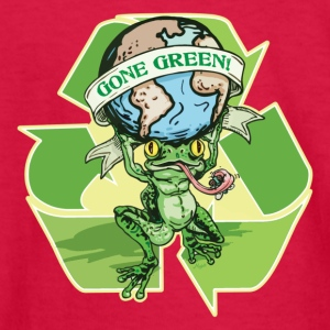 Gone Green Earth Day Frog - Kids' Long Sleeve T-Shirt
