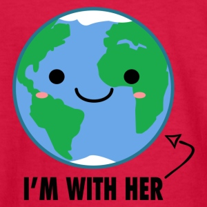 I'm with her Mother Earth Day - Kids' Long Sleeve T-Shirt
