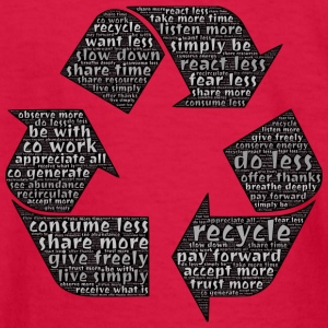 Recycling - Typography - Kids' Long Sleeve T-Shirt
