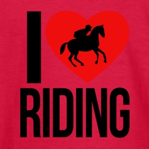 I LOVE HORSE RIDING - Kids' Long Sleeve T-Shirt
