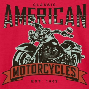 Classic American Motorcycles Established 1903 - Kids' Long Sleeve T-Shirt