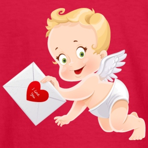 amourchik-smile-cupid-wings-heart-ValentinesDay - Kids' Long Sleeve T-Shirt