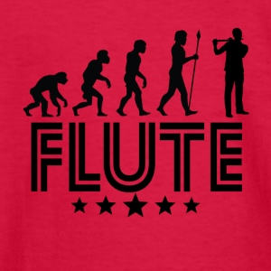 Retro Flute Evolution - Kids' Long Sleeve T-Shirt