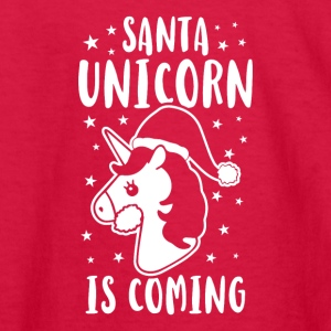 Santa Unicorn Is Coming - Kids' Long Sleeve T-Shirt