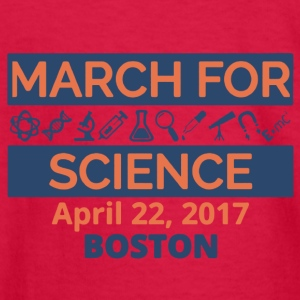 March For Science Boston Shirt - Kids' Long Sleeve T-Shirt
