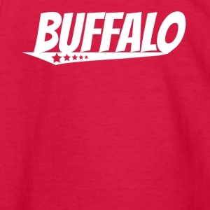 Buffalo Retro Comic Book Style Logo - Kids' Long Sleeve T-Shirt