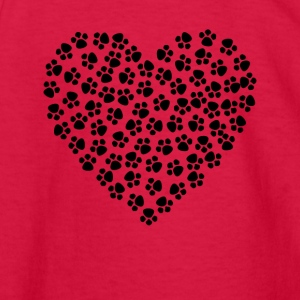 Paw Print Heart - Kids' Long Sleeve T-Shirt