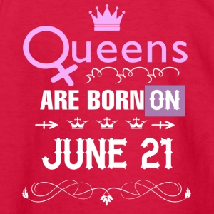 Queens are born on June 21 - Kids' Long Sleeve T-Shirt