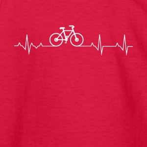 Cycling Heartbeat Lover - Kids' Long Sleeve T-Shirt
