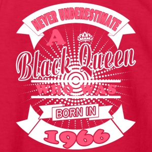 Black Queens Born in 1966 - Kids' Long Sleeve T-Shirt
