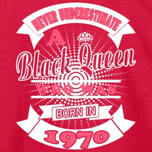 Black Queens Born in 1970 - Kids' Long Sleeve T-Shirt