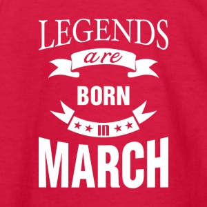 Legends are born in March - Kids' Long Sleeve T-Shirt