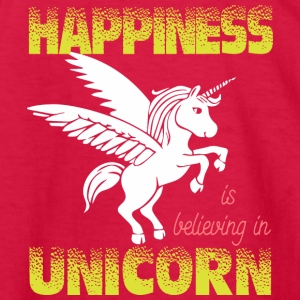 Happiness is believing in UNiCORN - Kids' Long Sleeve T-Shirt