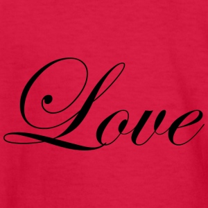 Love - Fancy Cursive Design (Black Letters) - Kids' Long Sleeve T-Shirt