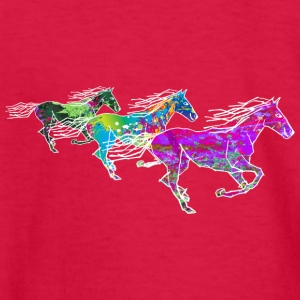 3 Horses - Kids' Long Sleeve T-Shirt