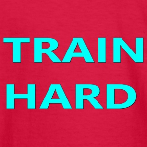 TRAIN HARD TEAL - Kids' Long Sleeve T-Shirt