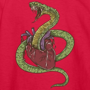 snake_exploding_heart - Kids' Long Sleeve T-Shirt