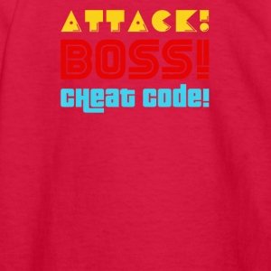 attack boss cheat code - Kids' Long Sleeve T-Shirt