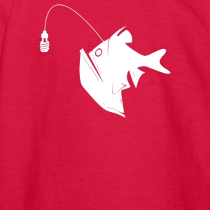 Angler Fish with Green Light Bulb - Kids' Long Sleeve T-Shirt