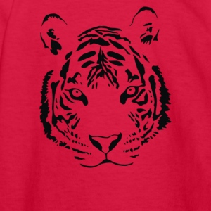 White Tiger Black Print - Kids' Long Sleeve T-Shirt