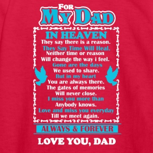 Dad In Heaven Shirt - Kids' Long Sleeve T-Shirt