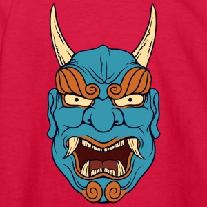 laughing_demon_with_long_horn - Kids' Long Sleeve T-Shirt