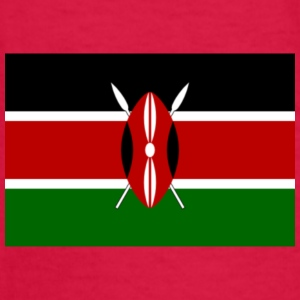kenyan flag graphic - Kids' Long Sleeve T-Shirt