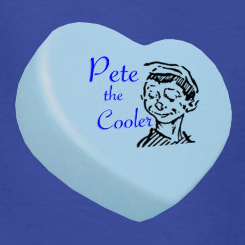 Pete the Cooler Candy Heart - blue - Kids' T-Shirt