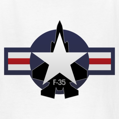 F-35 Lightning II Military Jet Fighter Aircraft - Kids' T-Shirt