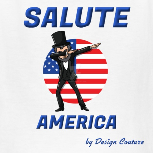 SALUTE AMERICA BLUE - Kids' T-Shirt