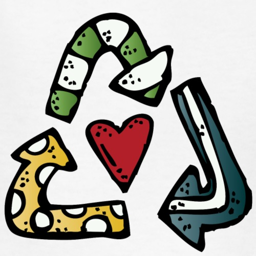 recycle symbol c melonheadz 13 colored png - Kids' T-Shirt