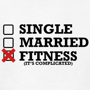Single - Married - Fitness - Kids' T-Shirt