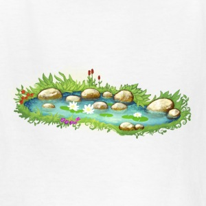garden pond pool plants - Kids' T-Shirt
