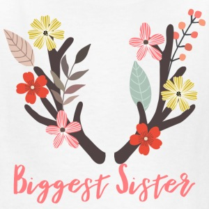 Biggest Sister Antler - Kids' T-Shirt