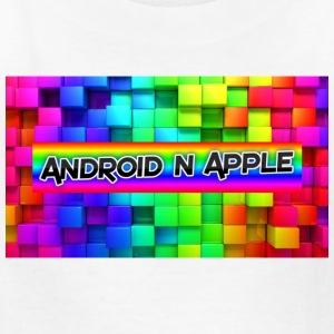 android and apple helper design - Kids' T-Shirt