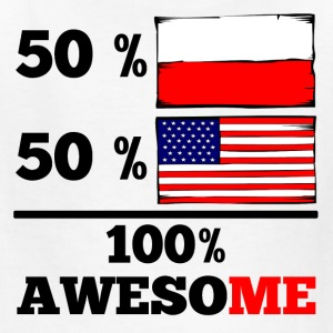 Half Polish Half American 100% Awesome - Kids' T-Shirt
