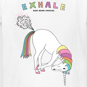 Hands To Feet Unicorn Outline - Kids' T-Shirt