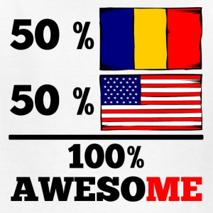 Half Romanian Half American 100% Awesome - Kids' T-Shirt