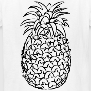 Pineapple Line Drawing - Kids' T-Shirt