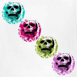 Four Skulls diagonal - Kids' T-Shirt