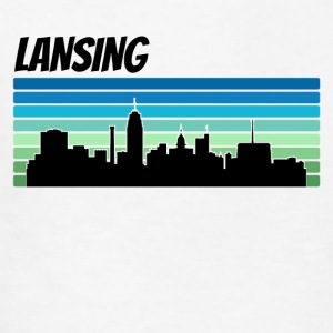 Retro Lansing Skyline - Kids' T-Shirt