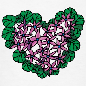 flower_heart_green - Kids' T-Shirt