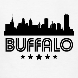 Retro Buffalo Skyline - Kids' T-Shirt